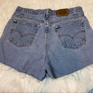 Vintage Levi's high waisted distressed shorts